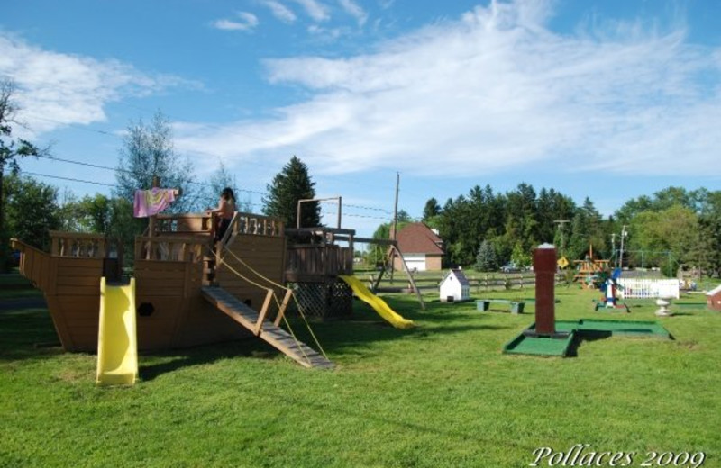 Kid's playground at Pollace's Family Vacation Resort.