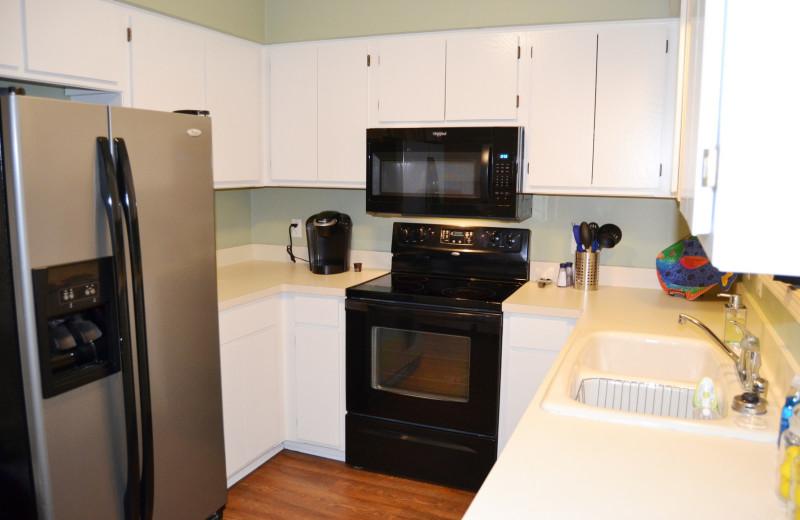 Rental kitchen at Hot Springs Village Rentals.