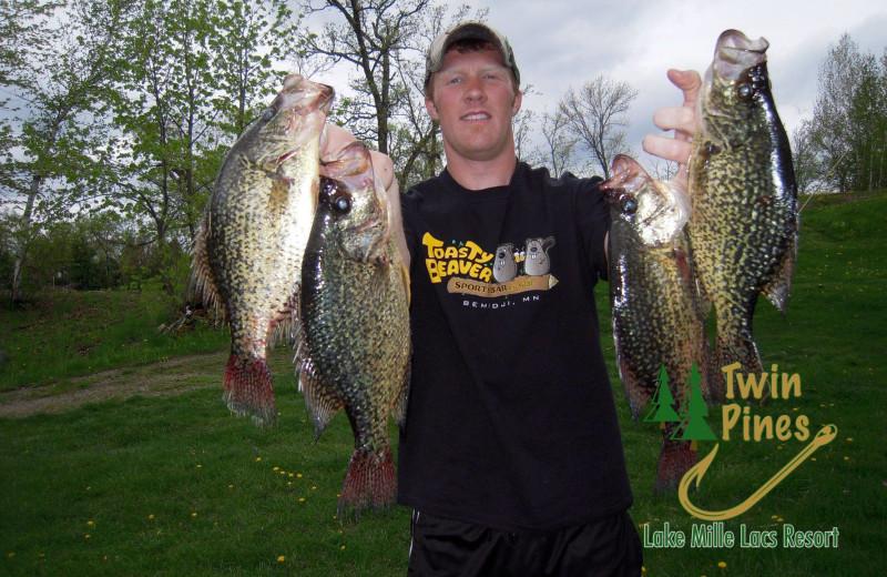 Fishing at Twin Pines Resort.