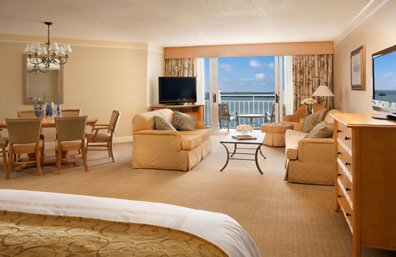 Guest suite at Sanibel Harbour Resort & Spa.