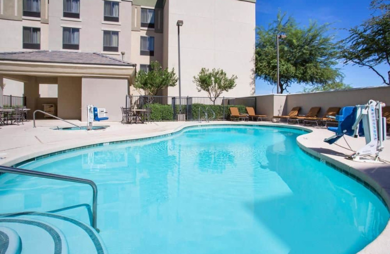 Outdoor pool at Homewood Suites by Hilton Phoenix-Avondale.
