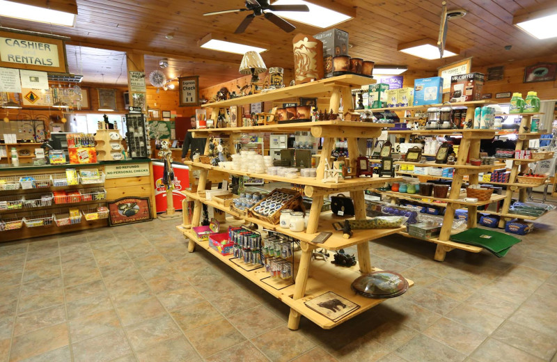 Store at Old Forge Camping Resort.