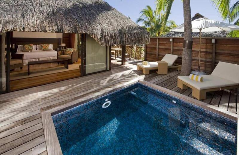 Guest bungalow at Sheraton Moorea Lagoon Resort & Spa.