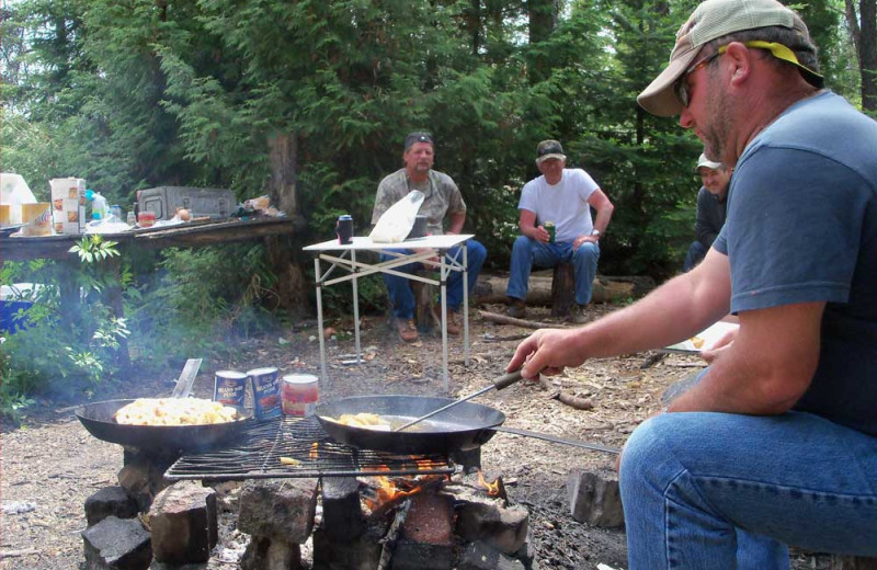Cook out at Manotak Lodge.