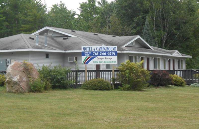 Motel exterior at Trap 'N Fish Lodge & Motel.