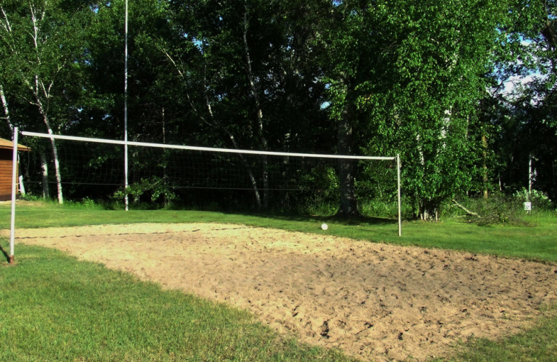 Volleyball court at Pine Terrace Resort.