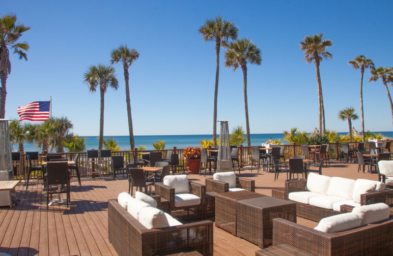 Patio lounge at Holiday Inn Resort Panama City Beach.