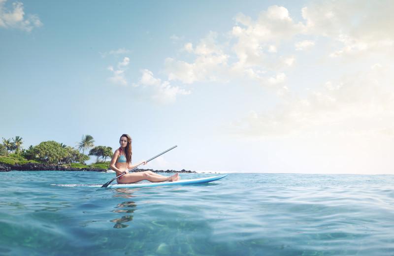 Paddle board at Travaasa Hana.