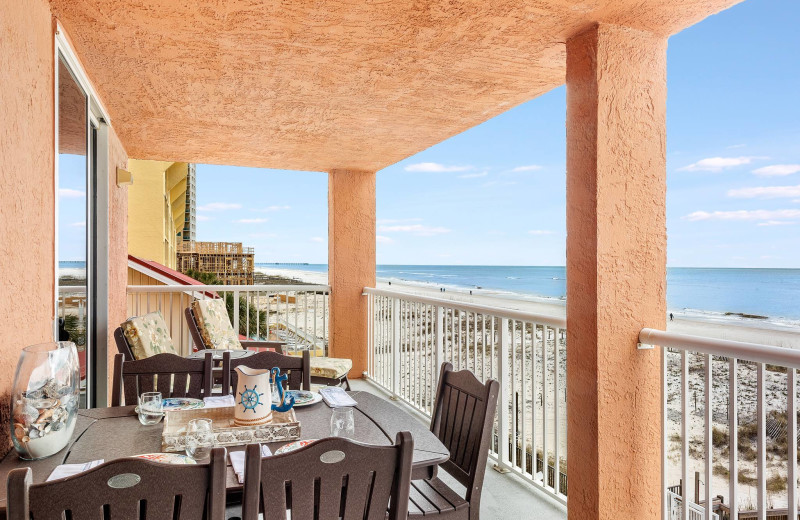 Rental balcony at Bender Realty Vacation Rentals.