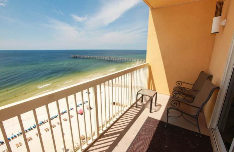 Balcony view at Calypso Resort & Spa.