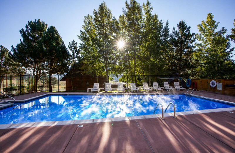 Outdoor pool at Rams Horn Village Resort.