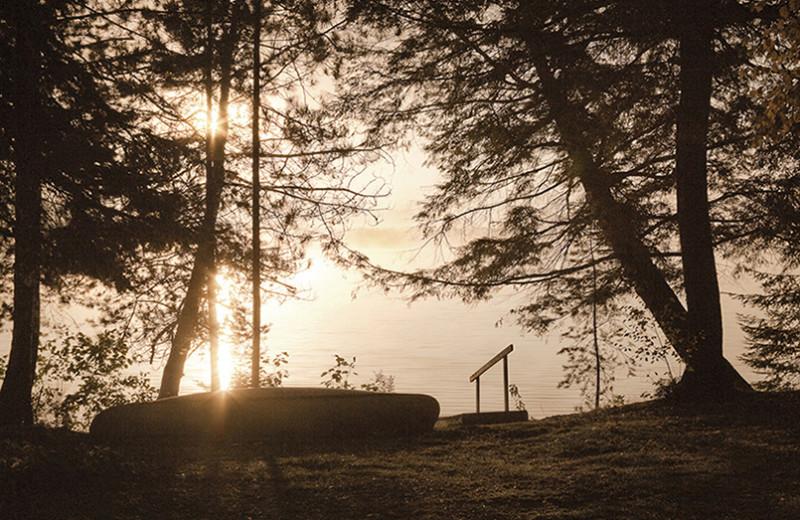 Sunset lake view at Killarney Lodge.