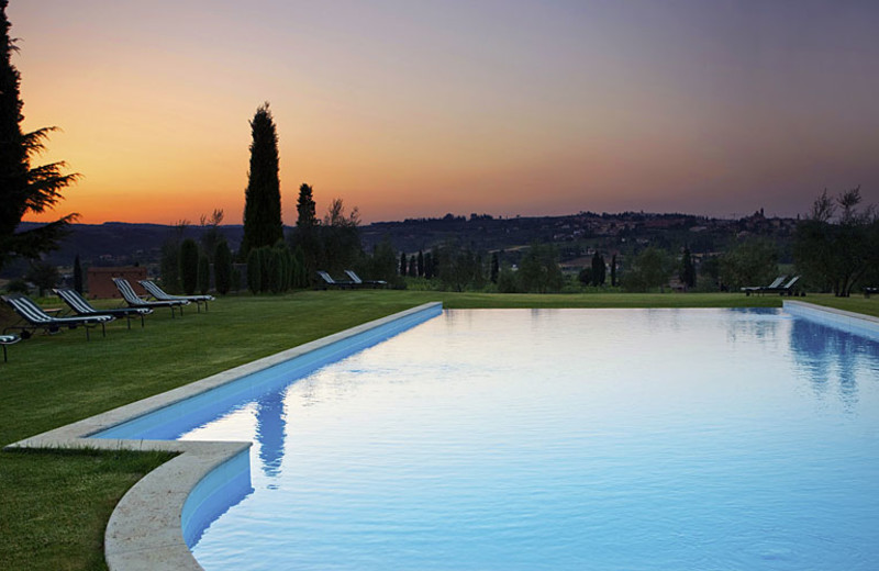 Outdoor pool at Locanda dell'Amorosa.
