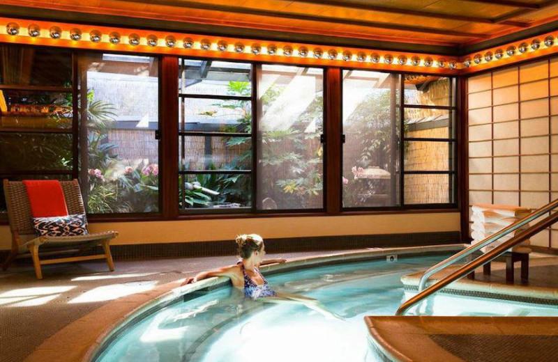 Spa pool at Golden Door.