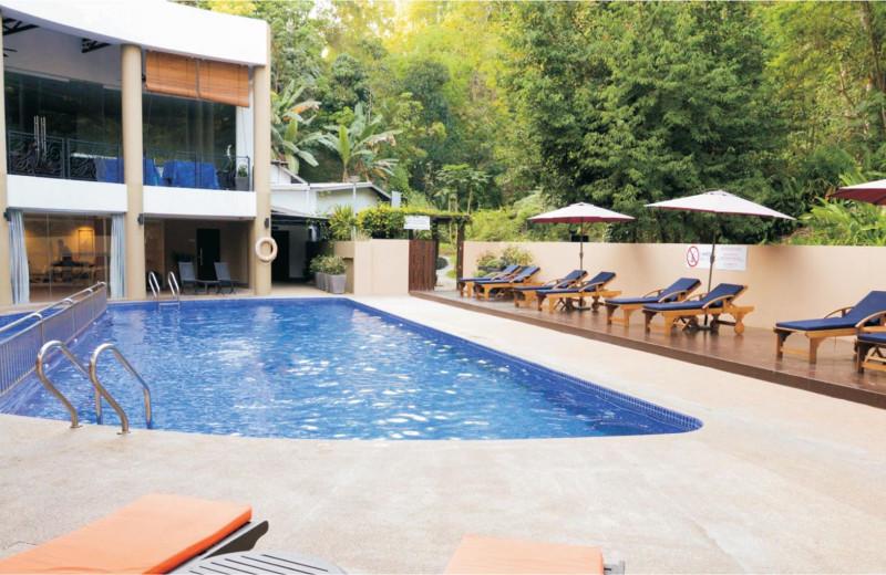 Outdoor pool at Berjaya Palace Hotel.