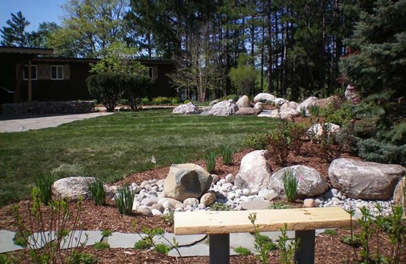 Garden view at Sojourn Lakeside Resort.