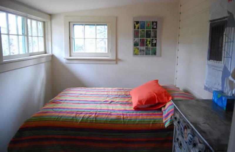 Cabin bedroom at Range Property Management.