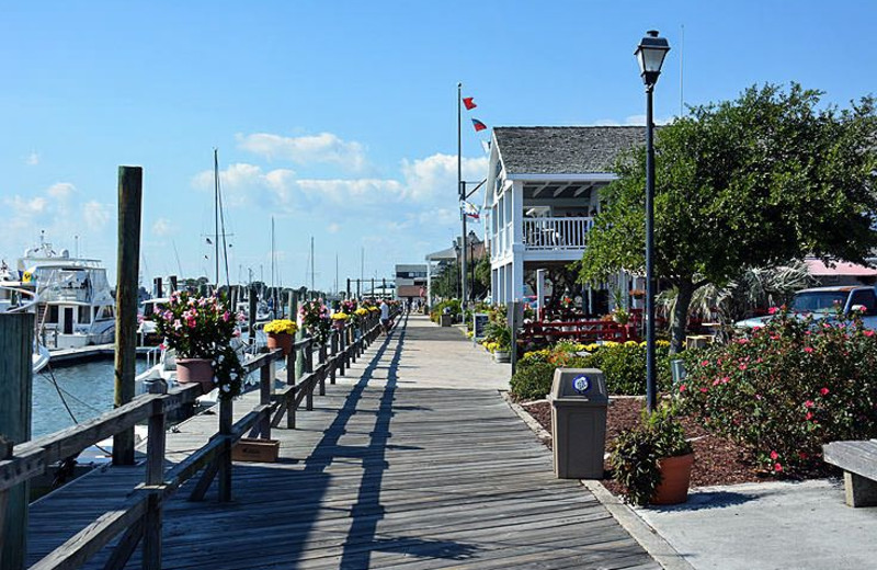 Town boardwalk at Islander Hotel & Resort.