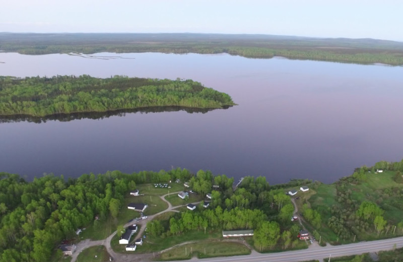 Aerial view of The Lodge at Parent Lake.