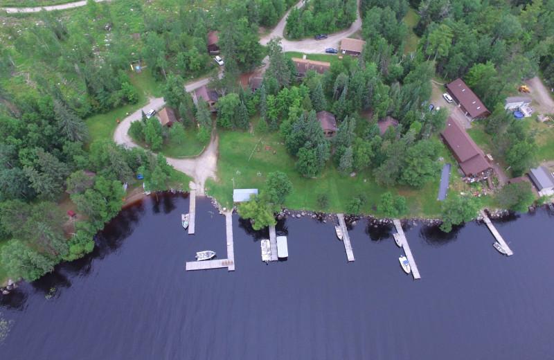 Arial view of Glenmore Resort.