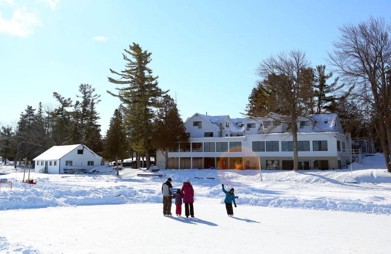 Winter at Bayview Wildwood Resort.