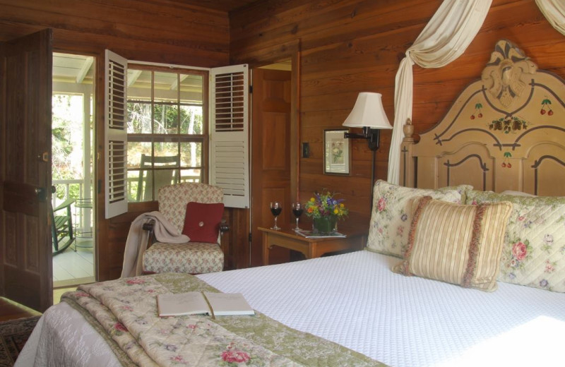 Guest room at Glen-Ella Springs Inn.