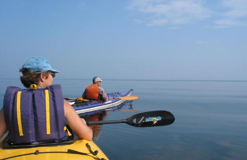 Kayaking at Pictou Lodge Resort