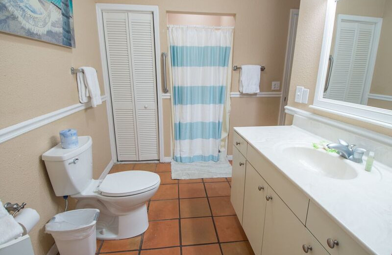 Guest bathroom at Anna Maria Island Inn.