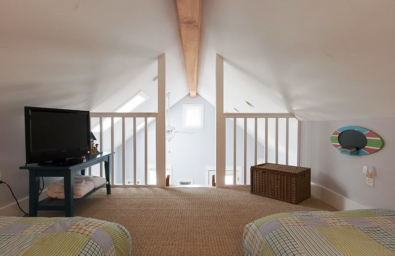 Rental loft at Seabrook Cottage Rentals.