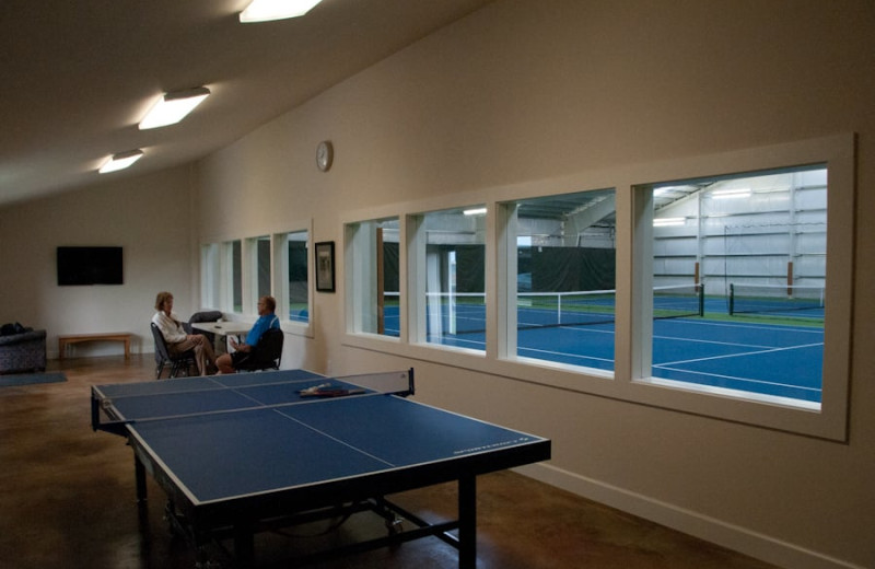 Ping pong table at Lighthouse Oceanfront Resort.