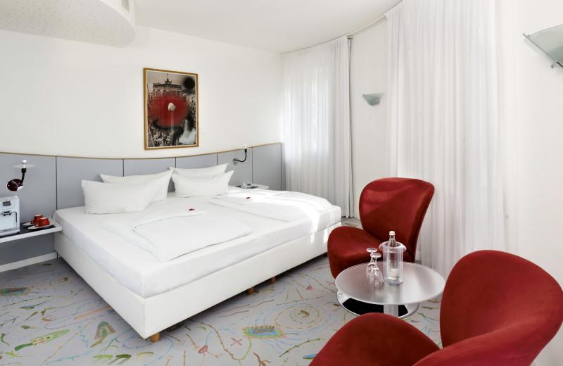 Guest room at Sorat Art'otel Berlin.
