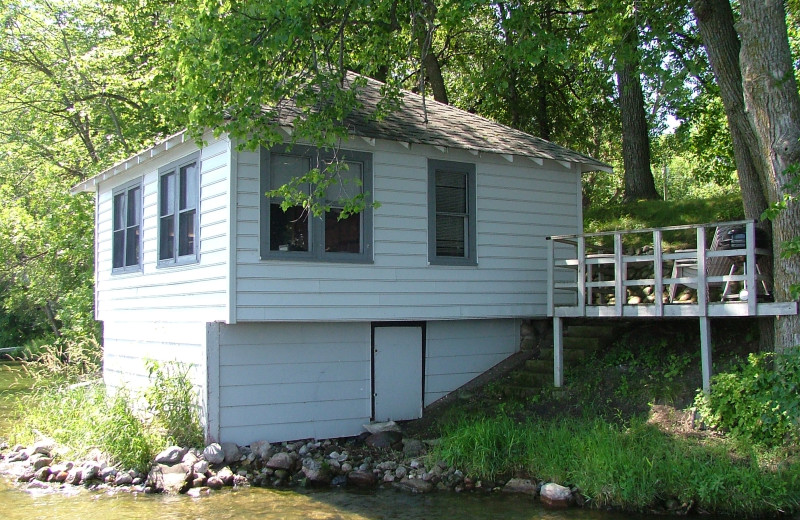 Cabin exterior at Long Lake Resort.