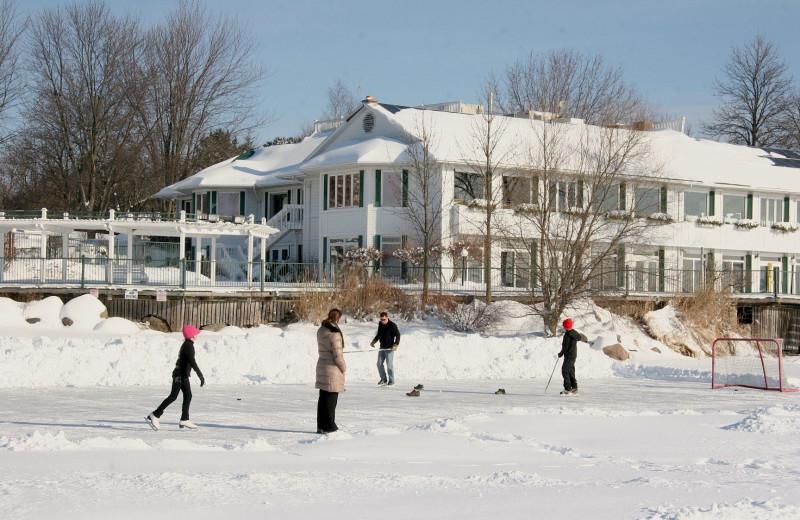 Ice skating at Elmhirst's Resort.