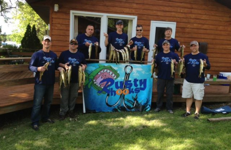 Fishing tournament at Shady Rest Resort.