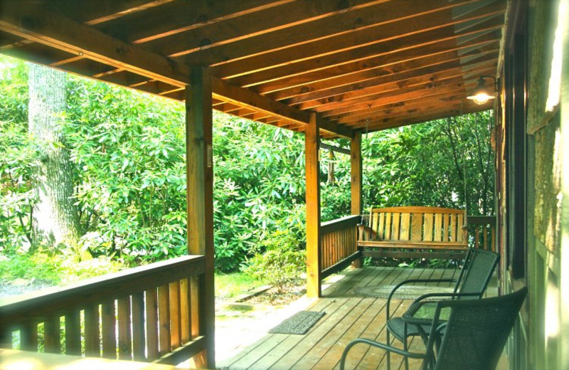 Cabin porch at Linville Cabins.