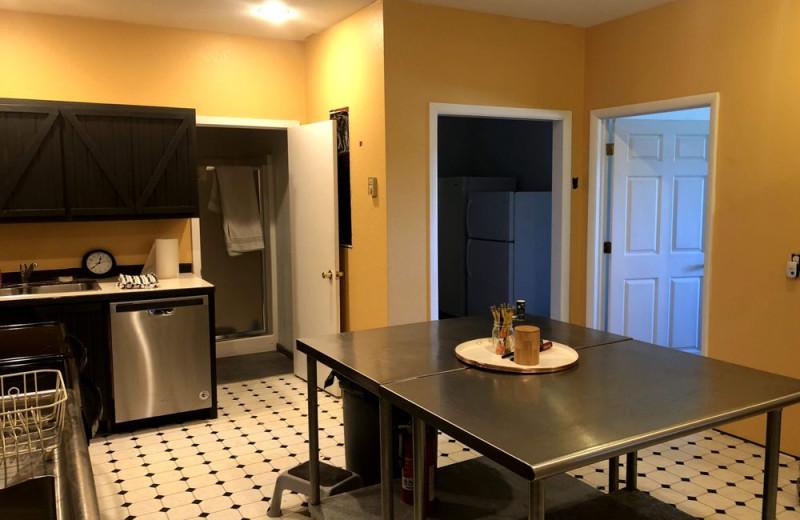 Guest kitchen at Hardscrabble Ranch.
