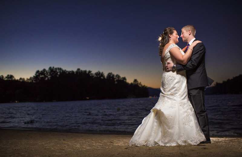 Wedding couple at Dunham's Bay Resort.