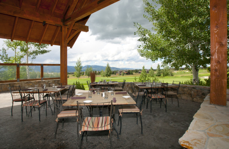 Outdoor dining at Cabin and Company.
