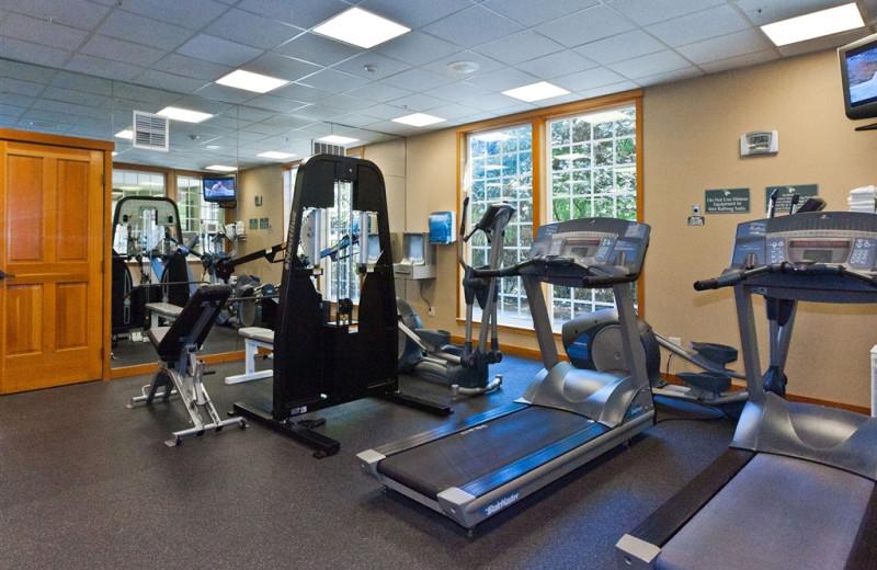 Fitness room at The Heathman Lodge.