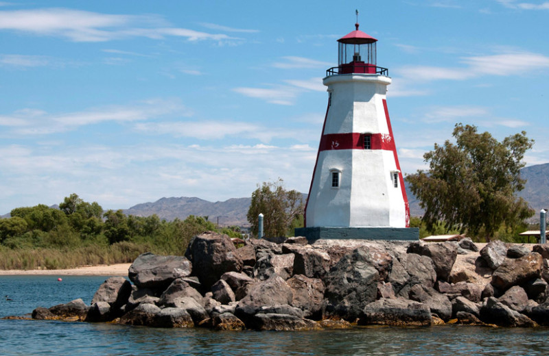 Lighthouse near Havasu Springs Resort.