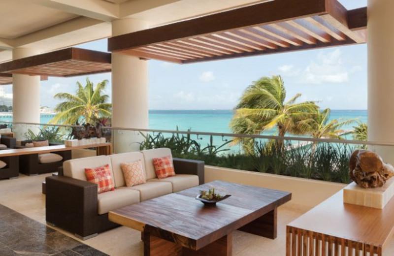 Outdoor Lounge at Hyatt Ziva Cancun