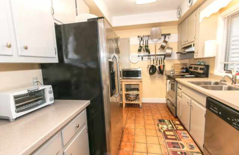Rental kitchen at Real Escapes Properties.