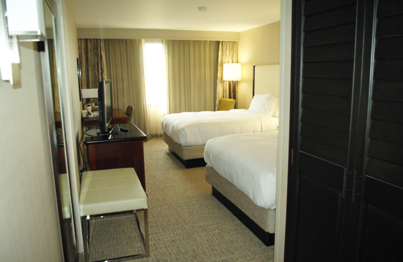 Guest room at Radisson Hotel & Conference Center Fresno.