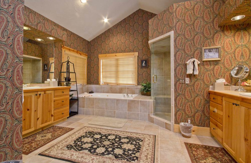 Rental bathroom at Alpine Ski Properties.