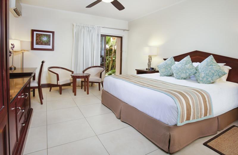 Guest room at Manchebo Beach Resort & Spa.