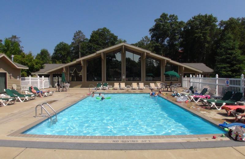 Outdoor pool at Kavanaugh's Sylvan Lake Resort.