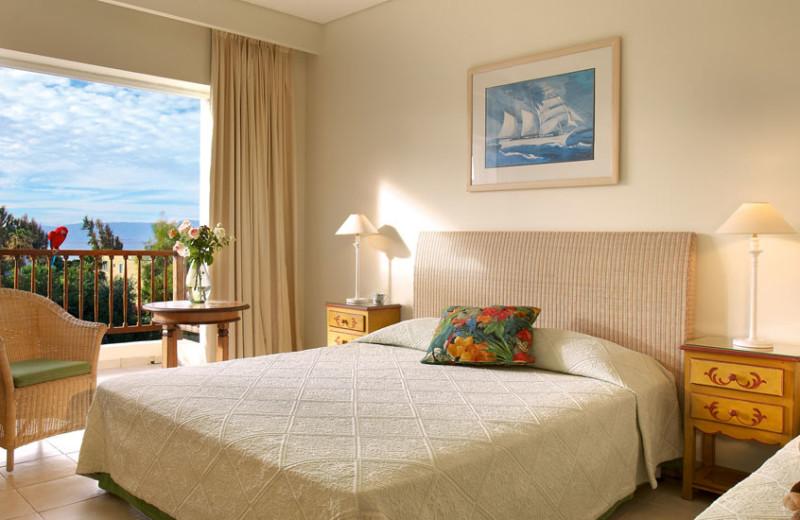 Guest room at Grecotel Lakopetra Beach.