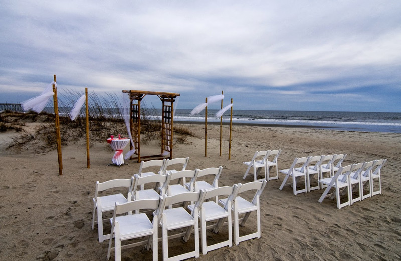 Beach Wedding At Ocean Isle Inn