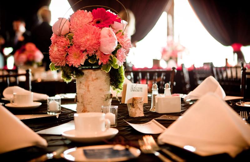Wedding reception at Bayview Wildwood Resort.