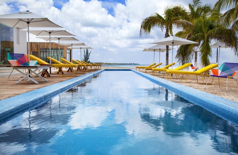 Outdoor pool at Fiesta Americana Cozumel Dive Resort.